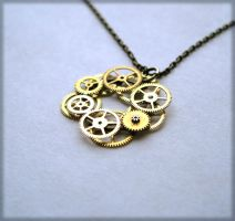 "Gear Pendant ""Ring of Fire"" by AMechanicalMind"