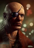 Street Fighter II Redesign - Sagat by SpineBender