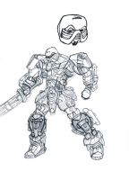 Tyvren - Pencil sketch - Bionicle by Crimson-eyed-sermon