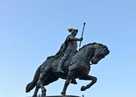 Statue of a Man on a Horse by Harry-Paraskeva