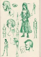 new sketchbook sketches 3 by HaluzCZ
