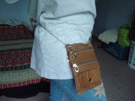 Modified leather wallet purse two by TeganIrish