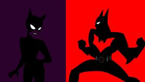 DC AM:Batman beyond vs Catwoman animated series by bat123spider