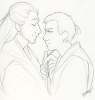 Qui-Gon and Obi-Wan by cillabub
