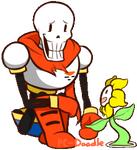 Papyrus and Flowey by PC-Doodle