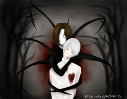 Hetalia+Slenderman (not fanfiction) by Erkki-storyteller-13