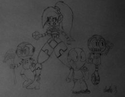 Group Of Futuristic Weirdos And Lenny by TheIransonic