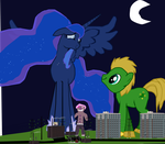You look very cute tonight Princess Luna by OceanRailroader