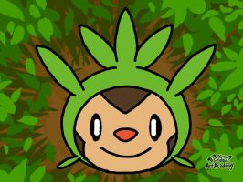 1st Chespin (Pokemon Art Academy) by laprasking