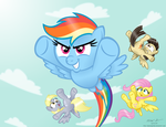 Dashing Rainbows by AleximusPrime