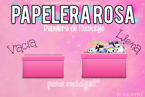 Papelera Rosa by Lucia Fdez by luciafdez23