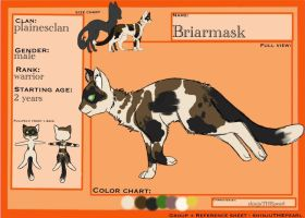 (TcotV) .: Briarmask ref sheet NEW :. by TheClansOf-TheValley
