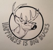 Happiness is Big Bucks by chrisbrown55