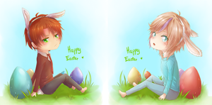 Happy Easter-Kage and Fuyuki by Rashirou