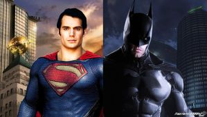 Superman and Batman Wallpaper Widescreen V2 by Timetravel6000v2
