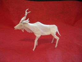 Origami Kudu new version by origami-artist-galen