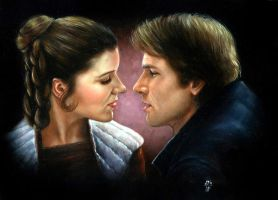 Han Solo and Leia by Melanarus
