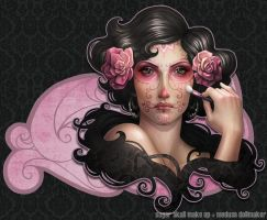 Sugar Skull make up by Medusa-Dollmaker