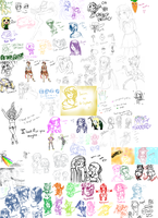 Giant Sketch Dump of Shit by luigirules64