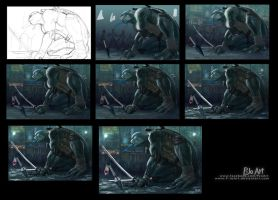 Leo - Step by Step by P-JoArt