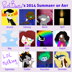 My 2014 summary or art by PaintBounce