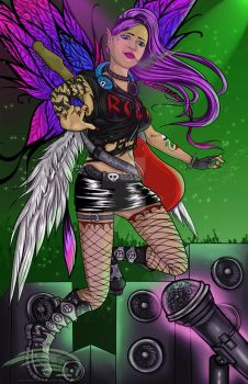 Love, Wings, and Rock  Roll by InsaneAngelArt