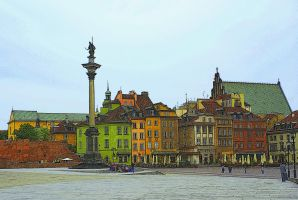 Castle Square in Warsaw by Su58