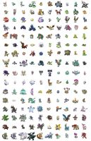 All Pokemon 5G shiny by Toa-fullmetal