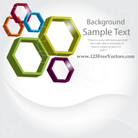 Abstract 3d Hexagon Vector Background by 123freevectors