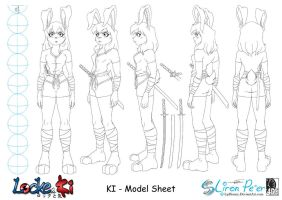 Ki Model Sheet - Clothes by LPDisney