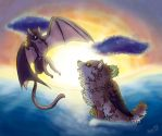 The Meeting of Two Races by WingedWolfAlari