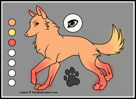 Adoptable wolf by firewolf180