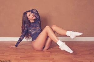 Alli in the AA Lace Bodysuit and Socks 06 by RaymondPrax