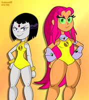 Lady Legasus and Incredible Quad by ScoBionicle99