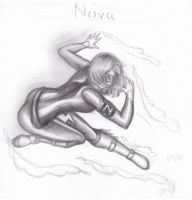 Nova (pencil drawing) by paint-splatter8