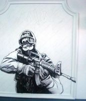 Counter strike in black white2 by artsoni