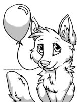 Birthday Pup Shaded by creativecanine