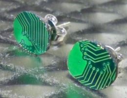 Circuit Board Earrings by Divulged