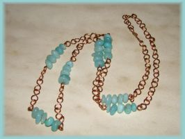Copper Amazonit necklace by jasmin7