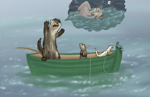 Faintly Painterly - Fishing trip by pan77155