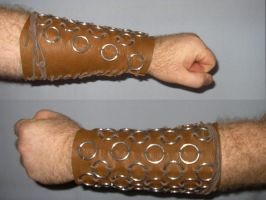 Deer hide leather Bracer by VEXXER