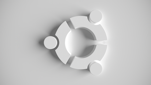 ubuntu white wallpaper by TheBigDaveC
