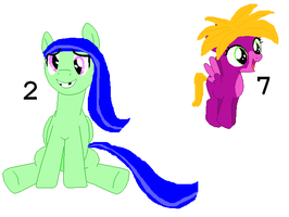 Picture Adoptables: Hatched Eggs 2 and 7 by Literate-Adopts