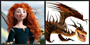 Merida's Dragon by Scribble-Bugg
