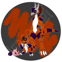 Ovimon Team Orange by Draco-Digi