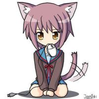 Neko Yuki Nagato by DiaTheKitty