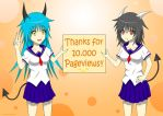 Thanks for 10.000 Pageviews~! by LateDaybreak