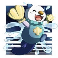 Splashing Oshawott by Kiibie