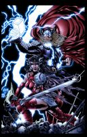 Thor and Sif Colors by BDStevens