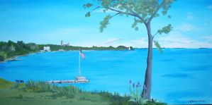Huron in acrylic by TomKilbane